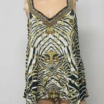 Camilla Us Womens S Night Waiting for Day v-Neck Strap Top Print & Gold 8386 Photo