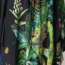 Camilla v Neck Silk Dress Photo
