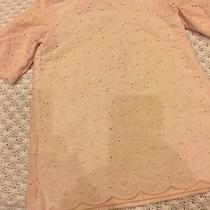 Camilla Vintage Embroider Lace Peach Pink Vintage Dress Girls 5t Boutique Photo