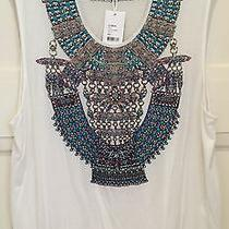 Camilla White Crystal Singlet Stitch of the Condor Tank Top Size 1 Rrp199 Photo