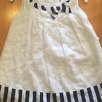 Camilla White Dress Blue 3t Nwt Lace Ribbon Photo