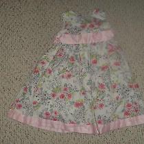Camilla White Sleeveless Dress W/ Floral Pattern Size 4t Gruc Photo
