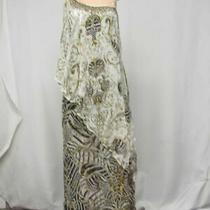 Camilla Women Us S Night Waiting for Day Asymetrical Layer Dress Zebra/gold 5590 Photo