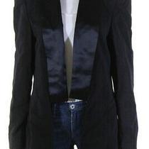 Camilla Womens Crystal Shoulder Dress Tuxedo Jacket Black Size Large Photo