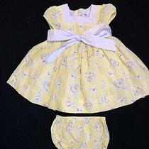 Camilla Yellow Eyelet Floral Dress Size 12 Months Photo
