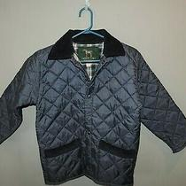 Campbell Cooper Boys Kids Navy Blue Quilted Riding Jacket Sz 8 Made in England Photo