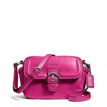 Campbell Leather Camera Bag (Coach F25150)--Silver/fuchsia Photo
