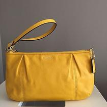 Campbell Leather Large Yellow Wristlet Photo