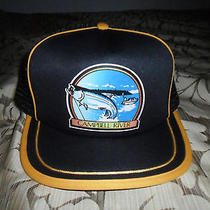 Campbell River Yellow / Black Snapback Trucker Mesh Hat  Photo