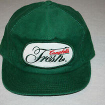 Campbells Fresh 80's Usa Corduroy Green Patch Trucker Hat Cap Snapback Photo