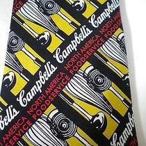 Campbell's North America Food Service Neck Tie Kitchen Utensils 100% Silk Photo