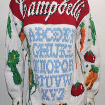 Campbell's Soup Can Hand Knit Sweater 1992 Pop Art   S Photo