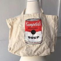 Campbell's Soup Collectible Hand Screen Printed Canvas Reusable Tote Bag Photo
