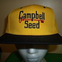 Campbell Seed Trucker Hat Baseball Cap Unique Retro Rare Old School Photo