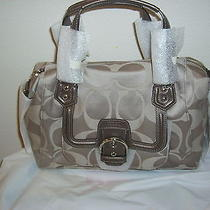 Campbell Signature Satchel (Coach F24741) Silver/tea Photo