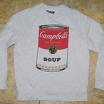 Campbell Soup Can Sweater Sweatshirt Mens Xs Womens Small Heather Gray Photo