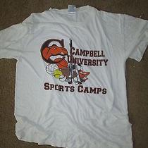 Campbell University Fighting Camel Sports Camp Top Shirt State Design Medium Photo