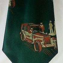 Campbells Clothes N Things Classic Car Necktie Hunter Green Ford Model T Photo