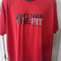 Can't Fake the Fit Fitness Training Reebok Mens 2xl Red Shirt Photo