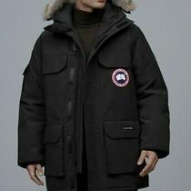 Canada Goose Expedition Navy Fur Trim Hooded Snow Ski Arctic Down Parka Coat L Photo