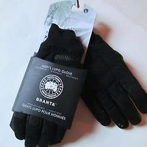 Canada Goose Men's Lupo Glove Black Gloves Sz L  Brand New 225 Photo