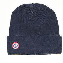 Canada Goose Mens Watch Cap Hat Winter Beanie Navy Photo