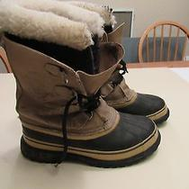 Canada Made Mens Size 9.5 Sorel Caribou Winter Snow Boots W/ Wool Liners Photo