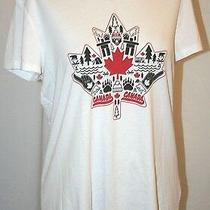 Canada Maple Leaf Soft Cotton Tee Shirt Short Sleeve Top White Xl Photo