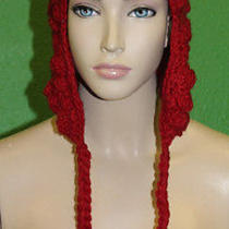 Candela Nyc Knit Crochet Red Ball Detail 100% Wool Chullo Winter Cap Hat 100 Photo