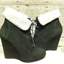 Candela Shiloh Wedge Boot Forest Green Womens Size 7 Photo