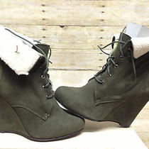 Candela Shiloh Wedge Boot Green Womens Size 9.5 M Us Photo