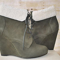 Candela Shiloh Wedge Forest Green Womens Size 10 Photo
