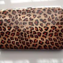 Candice Style La73094 Rose Gold Leopard Padded Hard Case Vinyl Wallet/clutch Photo