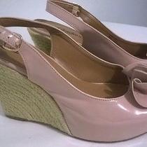 Candies Pink Blush Peep Toe Slingback Wedge Heel sz.7m Photo