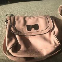 Candies Blush Pink Bow Crossbody Purse Handbag Photo