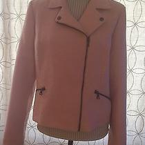 Candies's Nwt Xl Camera Ready Crop Jacket Blush Colored With Sparkles Lined Photo