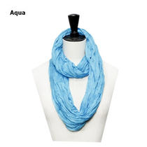 Candy Color Solid Scrunch Infinity Scarf Loop Scarf 1pcs Photo