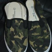 Canvas Camo Green Women's Sz 8 8.5 Slip on Shoes Sneakers Nwot Charles Albert Ny Photo