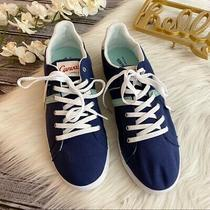 Canvas Lands End Sneakers Blue Nwob Size 10 Photo