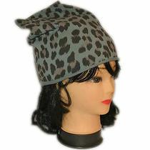 Cap Women's Hat Cap Fantasy Leopard Mud Black Blue Gray Photo
