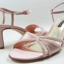 Caparros Zora Blush Pink Silk Womens Designer Jeweled Open Toe Wedding Sandals 8 Photo
