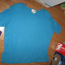 Capistrano  Aqua Blue Ss Stretch Knit Shirt 18/20 Photo