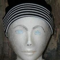 Carbon Elements Black/white Stripe Reversible Beanie Hat - One Size Fits Most Photo