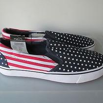 Carbon Elements Men's Usa Flag Slip on Sneakers Size 11 New Photo