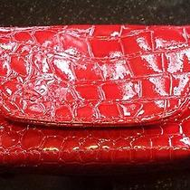 Card Cubby Clutch Wallet Credit Card Gift Card Holder - Red Croc - New Photo