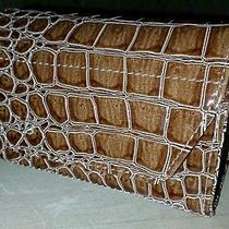 Card Cubby - Gift Card Holder - Faux Croc - Brown Photo