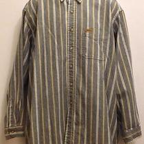 Carhartt 2xl Xxl Rugged Outdoor Wear Gray Blue Striped Shirt Photo