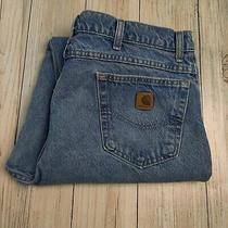 Carhartt 42x32 Men's Blue Denim Jeans Made in Usa Photo