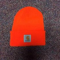 Carhartt Acrylic Watch Cap Bright Neon Orange Beanie Photo