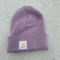 Carhartt Acrylic Watch Hat A18 Winter Warm Hat Cap Blush Pink Purple Fold Over Photo